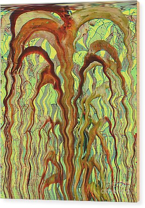 Tree Of Life				 Wood Print by Ann Johndro-Collins