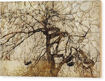 Tree Of Life  Wood Print by Ann Powell