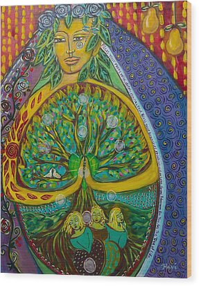 Tree Of Life Wood Print by Havi Mandell