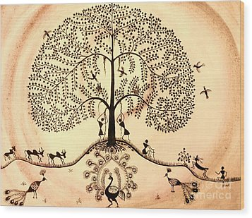 Tree Of Life II Wood Print by Anjali Vaidya