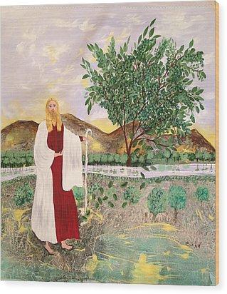 Tree Of Life- Jesus Wood Print