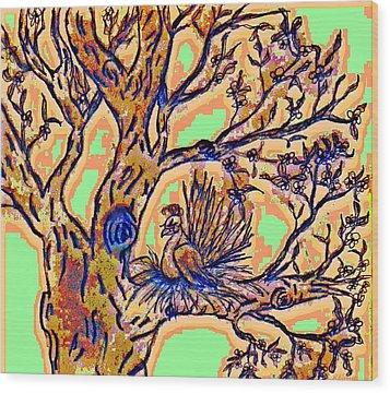 Tree Of Life Wood Print by Rebecca Flaig
