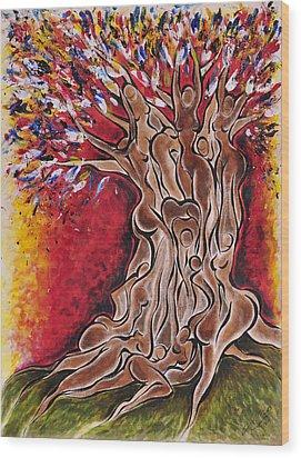 Tree Of Life Wood Print by Sherrell Cisco