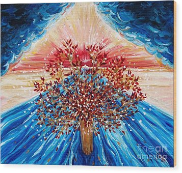 Tree Of Life Wood Print by Suzanne King