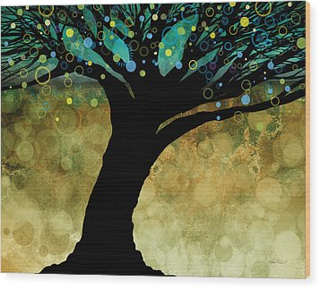 Tree Of Life Two  Wood Print by Ann Powell