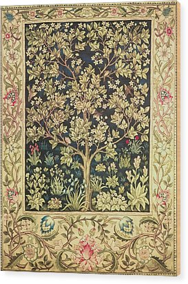 Tree Of Life Wood Print by William Morris