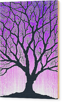 Wood Print featuring the digital art Tree Of Light 2 by Cristophers Dream Artistry