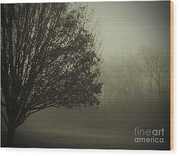 Tree Outside My Window Wood Print by Cedric Hampton