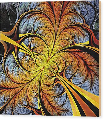 Tree Perspective Wood Print by Anastasiya Malakhova