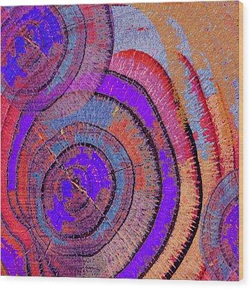 Tree Ring Abstract 2 Wood Print by Tony Rubino