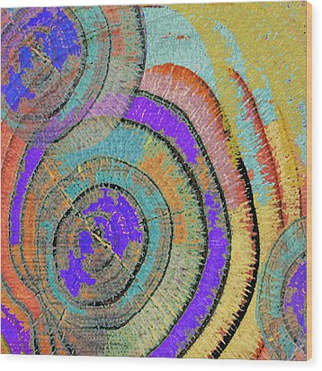 Tree Ring Abstract 3 Wood Print by Tony Rubino