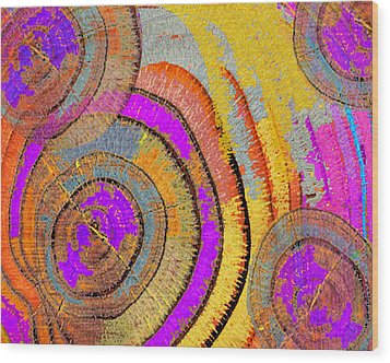 Tree Ring Abstract Horizontal Wood Print by Tony Rubino