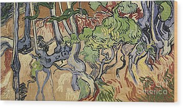 Tree Roots Wood Print by Vincent Van Gogh