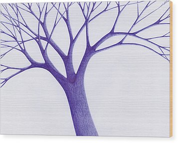 Wood Print featuring the drawing Tree - The Great Hand Of Nature by Giuseppe Epifani