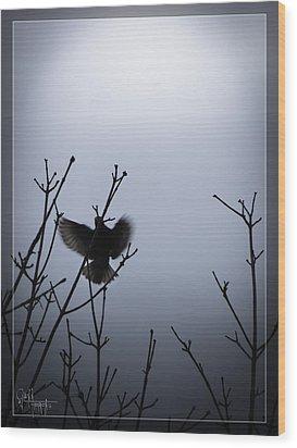 Wood Print featuring the photograph Tree Top Landing by Glenn Feron