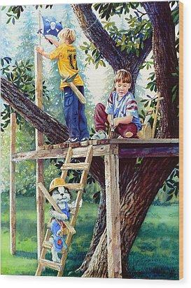 Treehouse Magic Wood Print by Hanne Lore Koehler