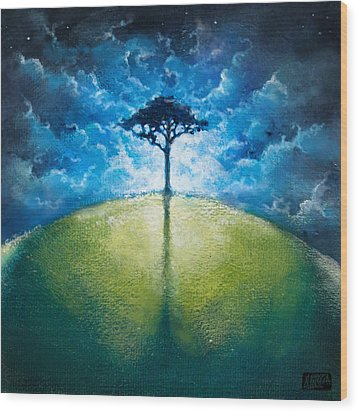 Treelogy I Wood Print by Vincent Carrozza