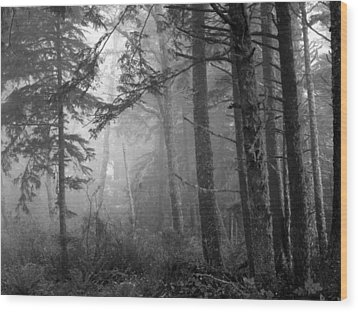 Wood Print featuring the photograph Trees And Fog by Tarey Potter