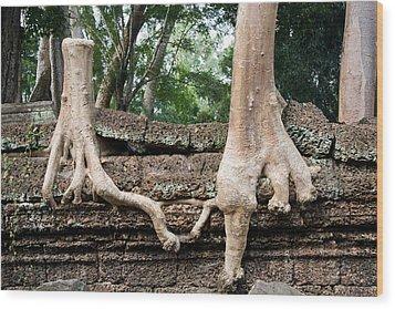 Trees United Wood Print by Artur Bogacki