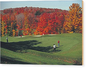 Treetops Golf Wood Print by Dennis Cox WorldViews