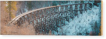 Trestle Rebuild Wood Print