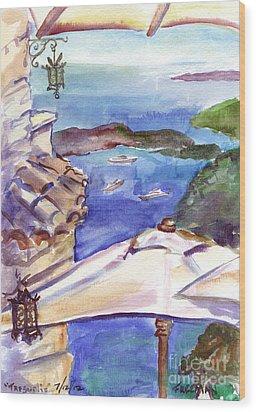 Tresurlie Eze Wood Print by Valerie Freeman