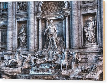 Wood Print featuring the photograph Trevi Fountain by Joe  Ng