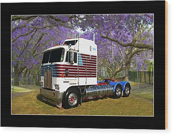 Wood Print featuring the photograph Trev's Kenworth by Keith Hawley