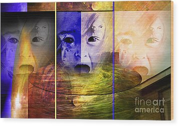 Triad Emotive Wood Print by Allison Ashton