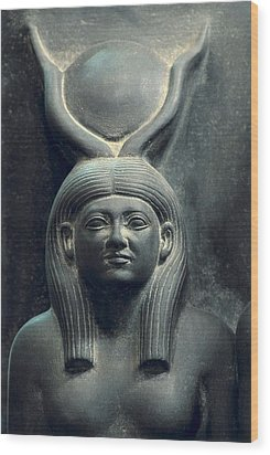 Triad Of Menkaure Mycerinus Wood Print by Everett
