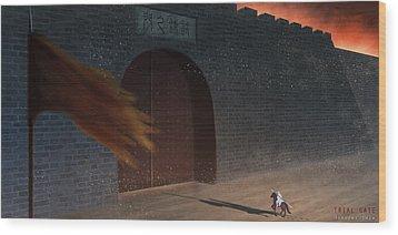 Trial Gate Wood Print by Hiroshi Shih