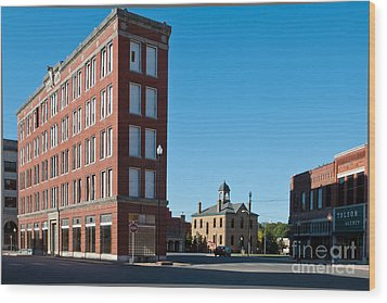 Triangle Building Wood Print by Lawrence Burry