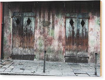 Triangle Doors Wood Print by John Rizzuto