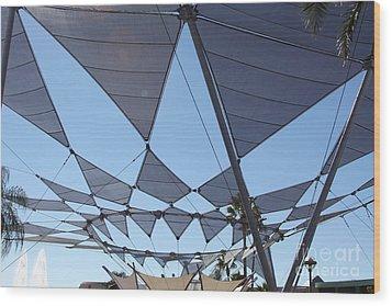 Triangle Sky Wood Print by Chris Thomas