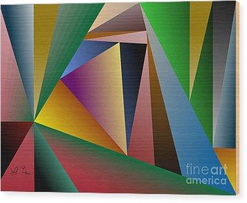 Triangles Wood Print by Leo Symon