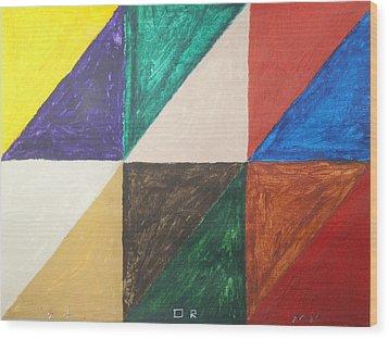 Triangles Wood Print by Stormm Bradshaw