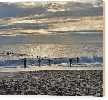Triathalon Wood Print