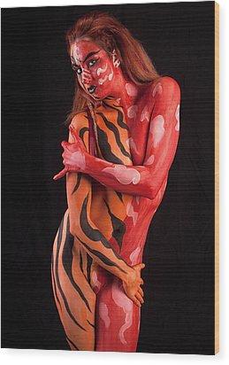 Tribal Beauty Wood Print by David April