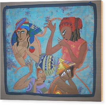 Tribal Wood Print by Linda Egland
