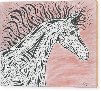 Tribal Spirit Wind Wood Print by Susie WEBER