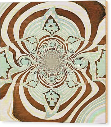 Tribal Stripe Field Of Dreams Wood Print by Mj Petrucci