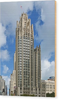 Tribune Tower - Beautiful Chicago Architecture Wood Print by Christine Till