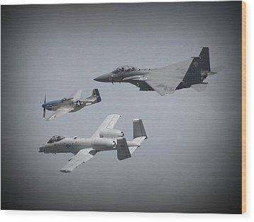 Tribute Flight Wafb 09 Tribute Flight Wood Print by David Dunham