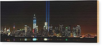 Tribute In Light From Bayonne Wood Print