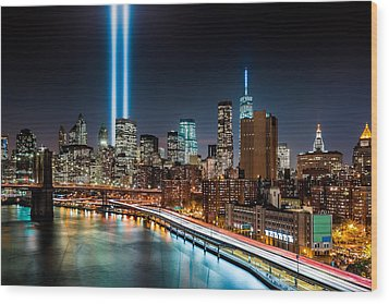 Tribute In Light Memorial Wood Print