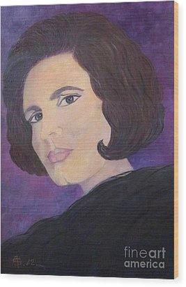 Tribute To Amalia Rodrigues The Queen Of Fado Wood Print by AmaS Art
