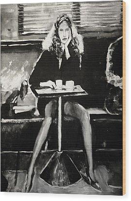 Tribute To Helmut Newton Wood Print