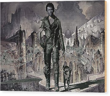 Tribute To Mad Max Wood Print by Francis Erevan