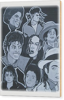 Tribute To Michael Jackson Wood Print by Gary Niles