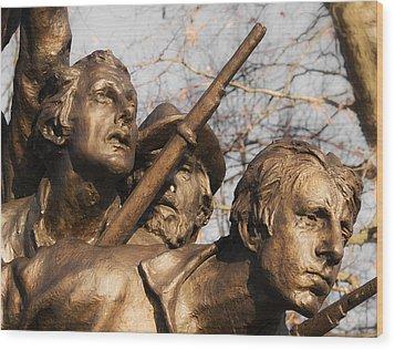 Tribute To North Carolina Wood Print